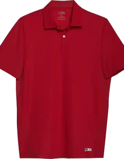 MSX By Michael Strahan Men's Modern Fit Short Sleeve Polo Red