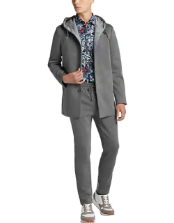 Paisley & Gray Men's Nocturnal Hoodie Jacket Charcoal