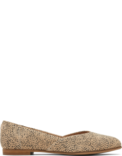 TOMS Sand Jutti Neat Flats Brown Suede Ortholite Shoes