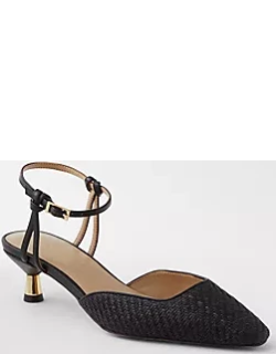 Ann Taylor Leesa Straw Knotted Slingback Pumps