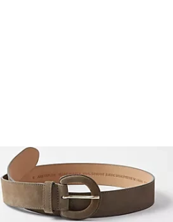 Ann Taylor Suede Covered Buckle Belt