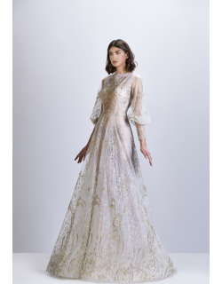 Apollo Couture Embroidered and Embellished Tulle Gown