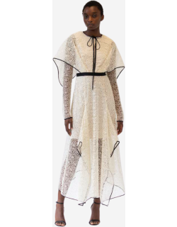 Bibhu Mohapatra Guipure Lace Dress with Wing Cape
