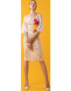 Gemy Maalouf Lace Top and Skirt