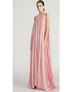 Halston Heritage Tay Lurex Chiffon Ombre Gown