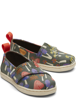 TOMS Green Forest Tiny Alpargatas Forest Slip-On Espadrille Green Glow in the Dark Hook and Loop Shoes