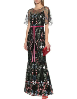 Marchesa Notte Sequin Embroidered Gown