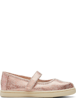 TOMS Dusty Peony Tiny Mary Jane Pink Metallic Slip-Ons Shoes