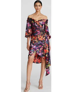 Theia Marion Off the Shoulder Dress