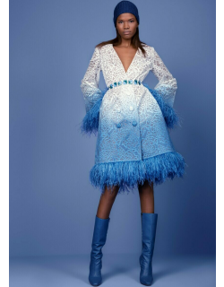 Georges Hobeika Coat with Feathers