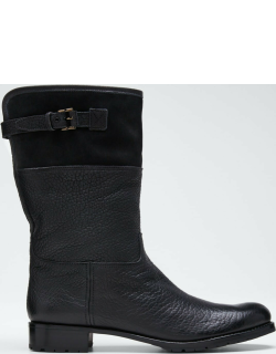 Waterproof Suede & Leather Shearling-Lined Boots