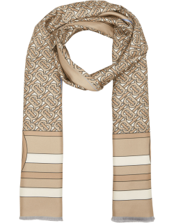 Double-Printed Silk Scarf