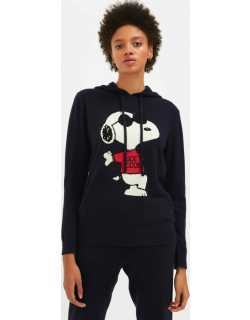 Navy Snoopy Be Cool Cashmere Hoodie