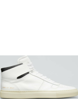Men's Bball Leather High-Top Sneakers