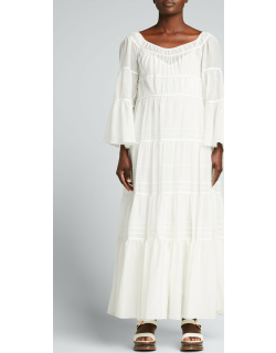Ruched Tiered Maxi Dress