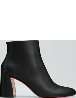Turela Calfskin Red Sole Ankle Booties