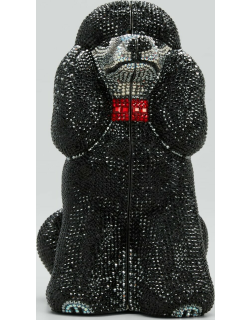 French Poodle Crystal Clutch Bag