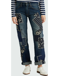 O'Connor Patchwork Straight-Leg Jeans