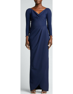 Peace Long-Sleeve Jersey Wrap Gown