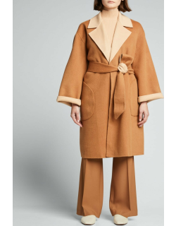 Tomiko Reversible Belted High-Low Coat
