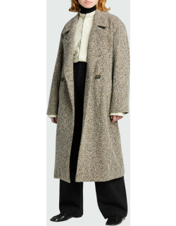 Double-Breasted Pebbled Trench Coat