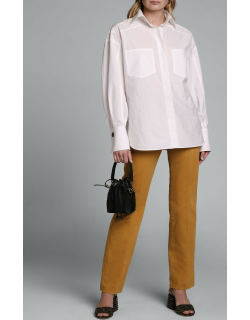 Dolman-Sleeve Cotton Blouse with Over