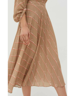 Biscotti Ciao Crepe-Georgette Pleated Skirt
