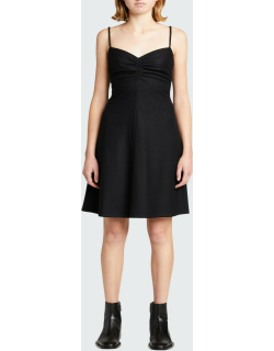 Wool-Blend Ruched Cami Dress