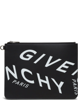 Givenchy Leather Clutch With Logo