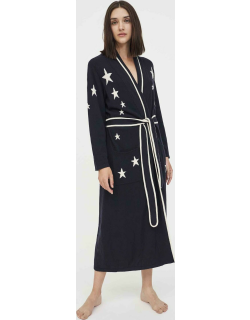 Navy Star Cashmere Dressing Gown