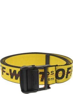 Off-White Yellow Woman Industrial Belt With Black Logo