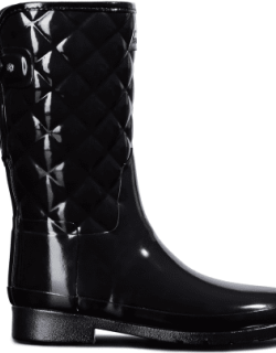 Women's Refined Slim Fit Adjustable Quilted Short Rain Boots