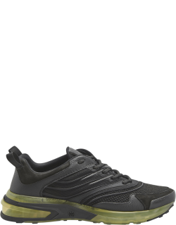 Men's Mix-Media Clear-Sole Chunky Sneakers