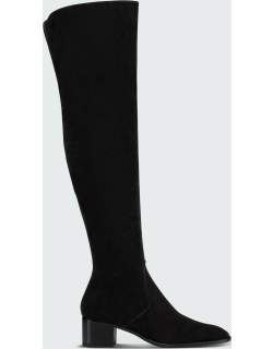Gazellou Suede Red Sole Knee Boots
