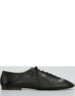 Leather Lace-Up Derby Loafers