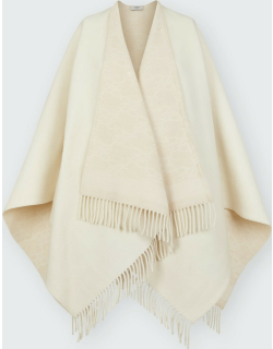 FF Karligraphy Reversible Cashmere-Wool Poncho