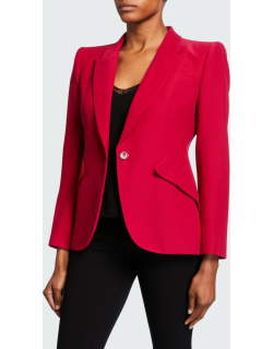 Classic Single-Breasted Suiting Blazer