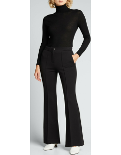 Double-Face Flared Trousers