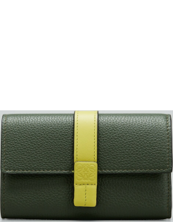Small Trifold Flap Leather Wallet
