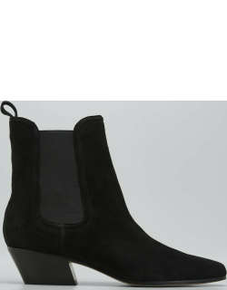 Lada Suede Chelsea Ankle Booties
