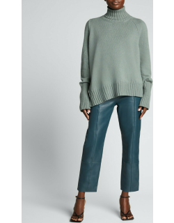 Palmer Cropped Leather Trousers
