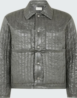 Men's Shiny Quilted Worker Jacket