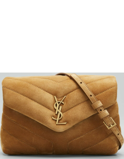 Loulou Toy YSL Quilted Suede Crossbody Bag