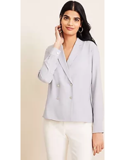 Ann Taylor Double Breasted Blouse