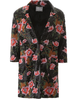 IN THE MOOD FOR LOVE SARA BLAZER M Black, Pink, Red