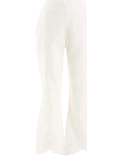 ZIMMERMANN CARNABY FLARED TROUSERS 2 White Linen