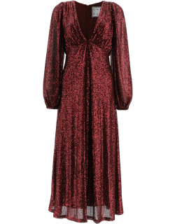 IN THE MOOD FOR LOVE IRINA SEQUINED DRESS M Red