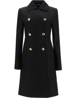 GIVENCHY GIVENCHY CHAÎNE COAT WITH 4G BUTTONS 38 Black Cotton