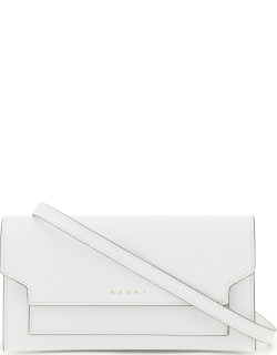 MARNI MINI BAG WALLET WITH SHOULDER STRAP OS White Leather
