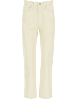 AGOLDE RECYCLED LEATHER TROUSERS 24 Beige Leather